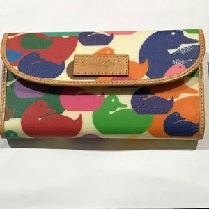 Dooney & Burke multicolor duck Wallet